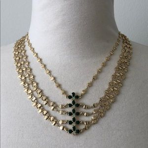 Jewelmint gold toned necklace crystal chains